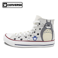 My Neighbor Totoro High Top Converse All Star Anime Cosplay Shoes Women Men Hand Painted Sneakers Unique Skateboarding Shoes