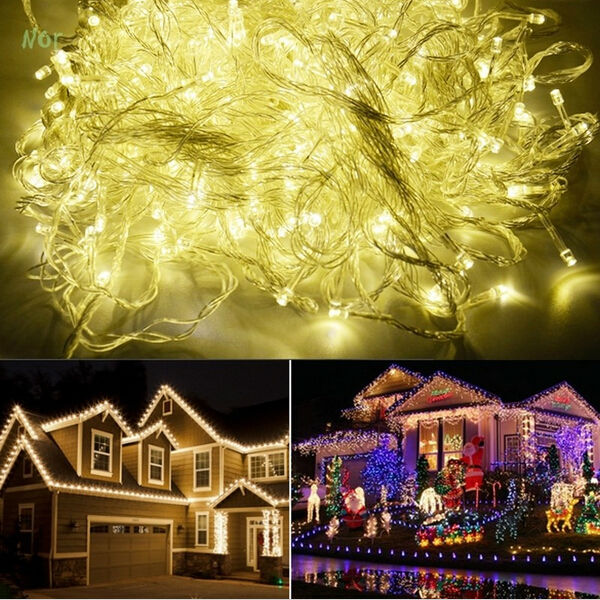100M 800 LED Lights Party Lamp Led Christmas Lighting Decoration Wedding Twinkle String Light 220V EU waterproof luz da corda ...
