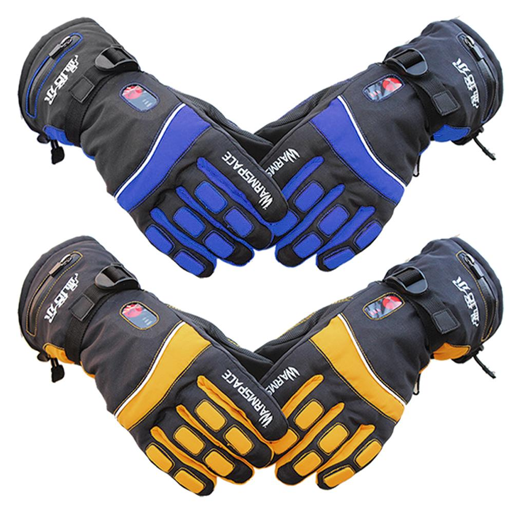 Outdoor Electric Ski Gloves Finger Double-Sided Heated Temperature Control Rechargeable Waterproof Gloves