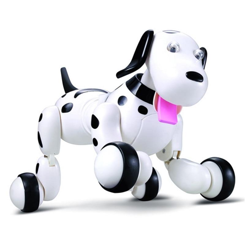 777-338 Regalo de Cumpleaños RC zoomer perro 2,4g Control remoto inalámbrico inteligente perro mascota electrónica de los niños educativos juguete juguetes Robot