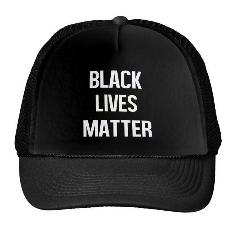 Μαύρο Lives Matter Letters Print Baseball Cap Trucker Hat For Women Men Unisex Mesh Ρυθμιζόμενο μέγεθος Μαύρο άσπρο Drop Ship M-82