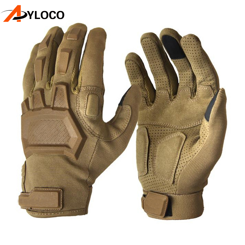 Touch Screen Tactical Gloves Army Military Combat Airsoft Outdoor Hiking Climbing Shooting Paintball Full Finger Gloves