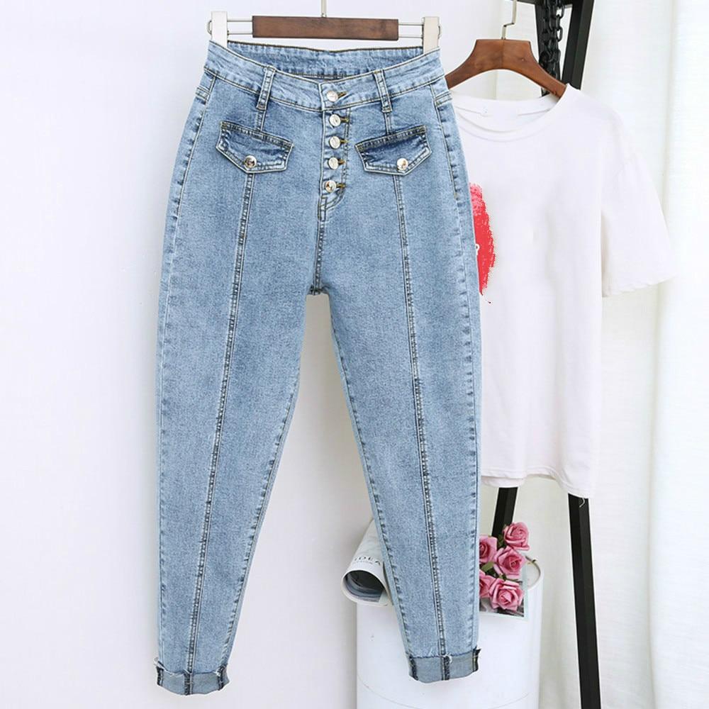 2020 Spring Summer Boyfriend Harem Denim Pants Fashion Women High Waist Female Autumn Mom Jeans Pantalones Mujer Plus Size 5XL