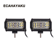 ECAHAYAKU 2pcs 5 inch 90W combo beam LED Work Light Bar for Tractor Boat Off-Road 4WD 4x4 Truck ATV 12V 24v led bar car styling