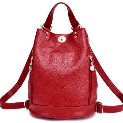 New shoulder bag female college wind bucket type
