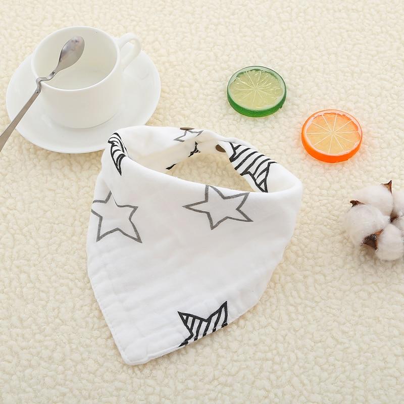 Cotton Soft Muslin 8 Layers Newborn Baby Bib Saliva Towel Bibs Burp Cloth Infant Toddler Bib Baby Bandana Feeding Apron Bavoir