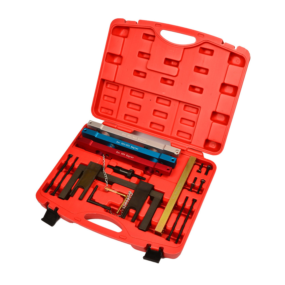 For BMW N51 N52 N53 N54 N55 Camshaft Alignment Engine Timing Locking Tool Kit Install and Removal Set E60 E61 E64 E91 E92 SK1288 carcam install kit tool