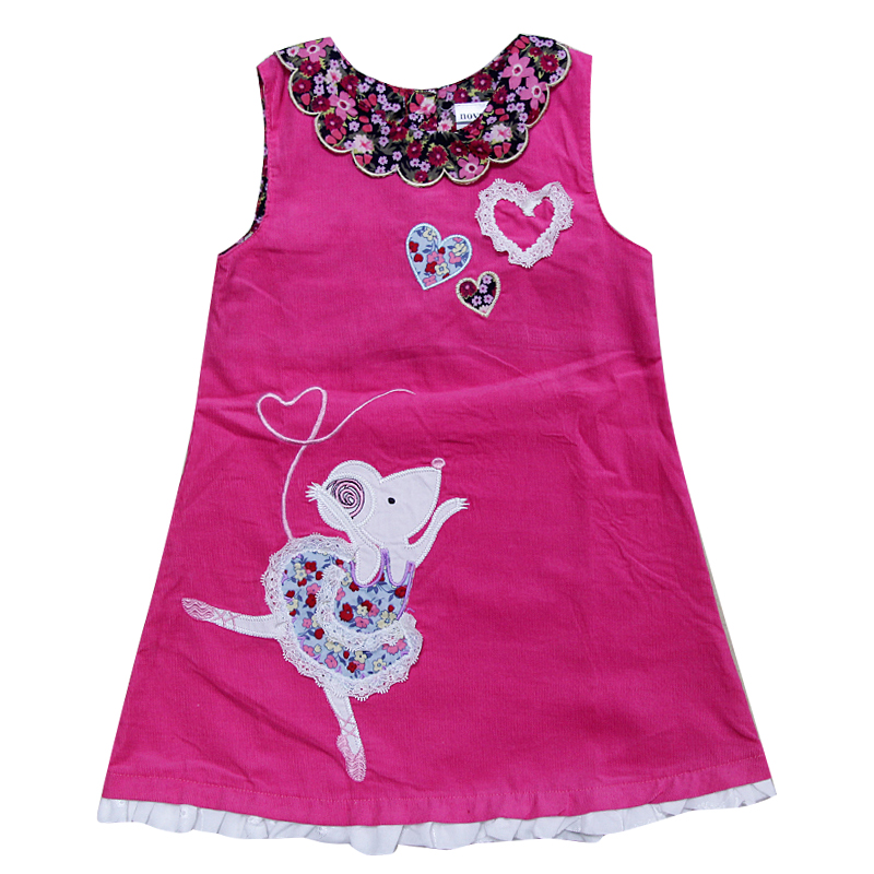 novatx H7137 summer kids children sleeveless dress floral girl dress 2018 new design baby girls clothes child wear hot selling novatx h5023 girls clothes reatil new summer baby girl causal bow dress children girl clothing dresses for girl dress hot top