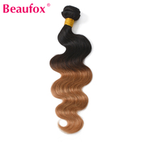 Hisakus Ombre Brazilian Hair Body Wave 2 Tone 1B 27 Color Blonde Human Hair Weave Can
