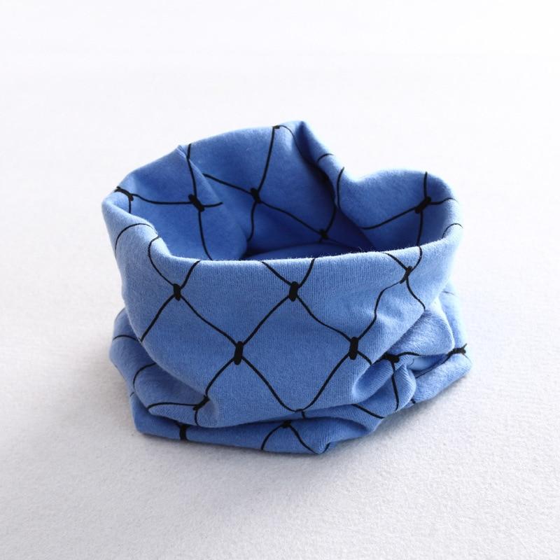 Осенне-зимний детский хлопковый шарф для девочек и мальчиков теплые шарфы Детский круглый кольцевой ошейник Детский шарф детский волшебный шейный платок - Цвет: grid 2