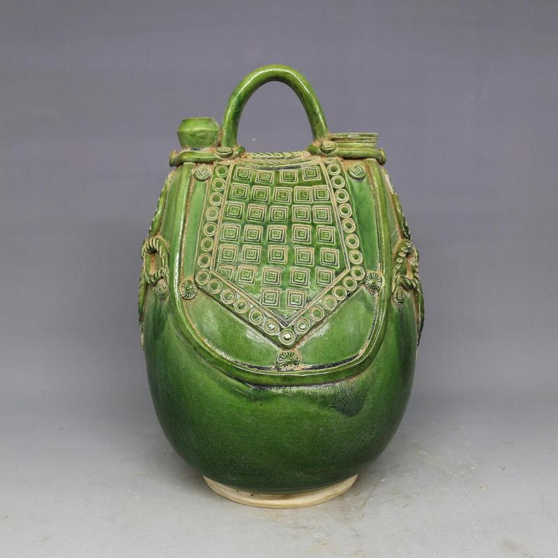 Antique Old Chinese porcelain tea pot, green glaze,Home Decoration,best collection & adornment, Free shipping