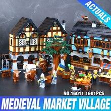 Nova 1601 Pcs Lepin 16011 Genuine Série Castelo A Mansão Medieval Castelo Set 10193 Modelo Blocos de Construção Tijolos Brinquedos Educativos