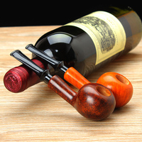 Classic New Bee Master Class Bruyere Straight Type Food grade Plastic Mouthpiece Smoking Pipe Wooden Tobacco Pipe PW 59