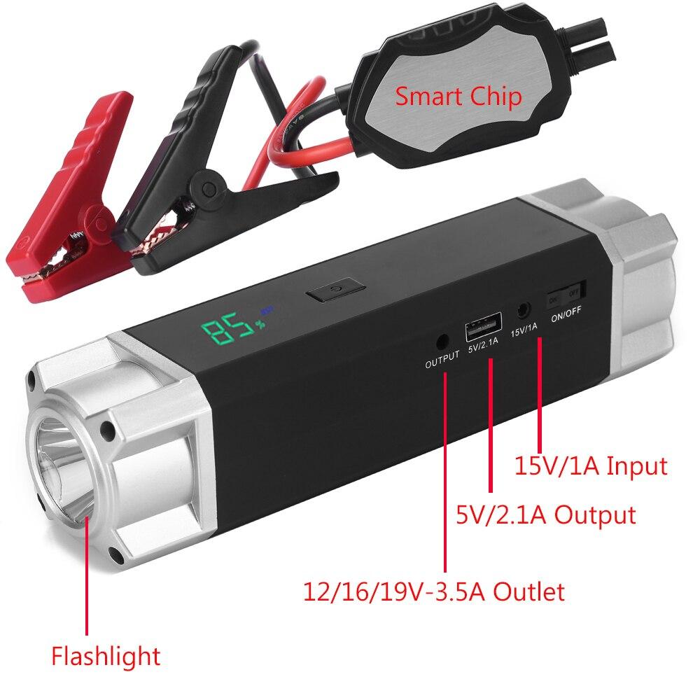 JKCOVER Auto Salto di Avviamento 1000A Corrente di Picco Batteria Alla Moda Battery Booster Diesel Benzina Avviamento Di Emergenza Auto Banca di Potere