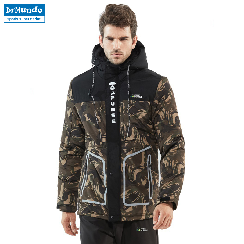 Outdoor Mens Hiking ski Jacket Camouflage thick warm Assault jacket Windproof Camping Jacket Down Hooded Jackets Men Plus Size winter jacket men warm coat mens casual hooded cotton jackets brand new handsome outwear padded parka plus size xxxl y1105 142f