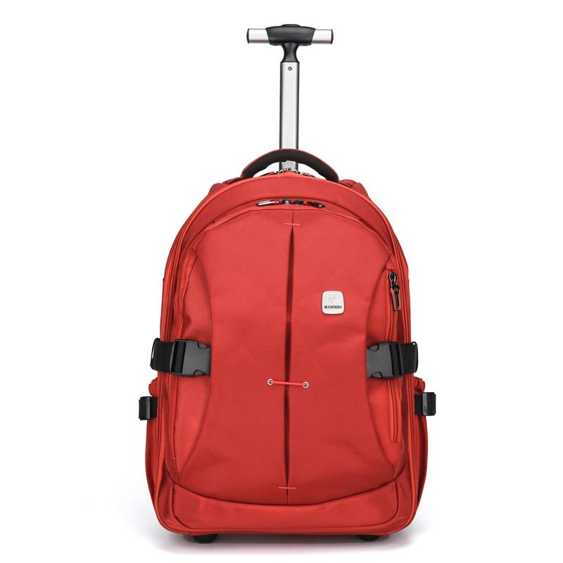fdb9211d9a Unisex Trolley Travel Bags On Wheels Waterproof men s trolley ...