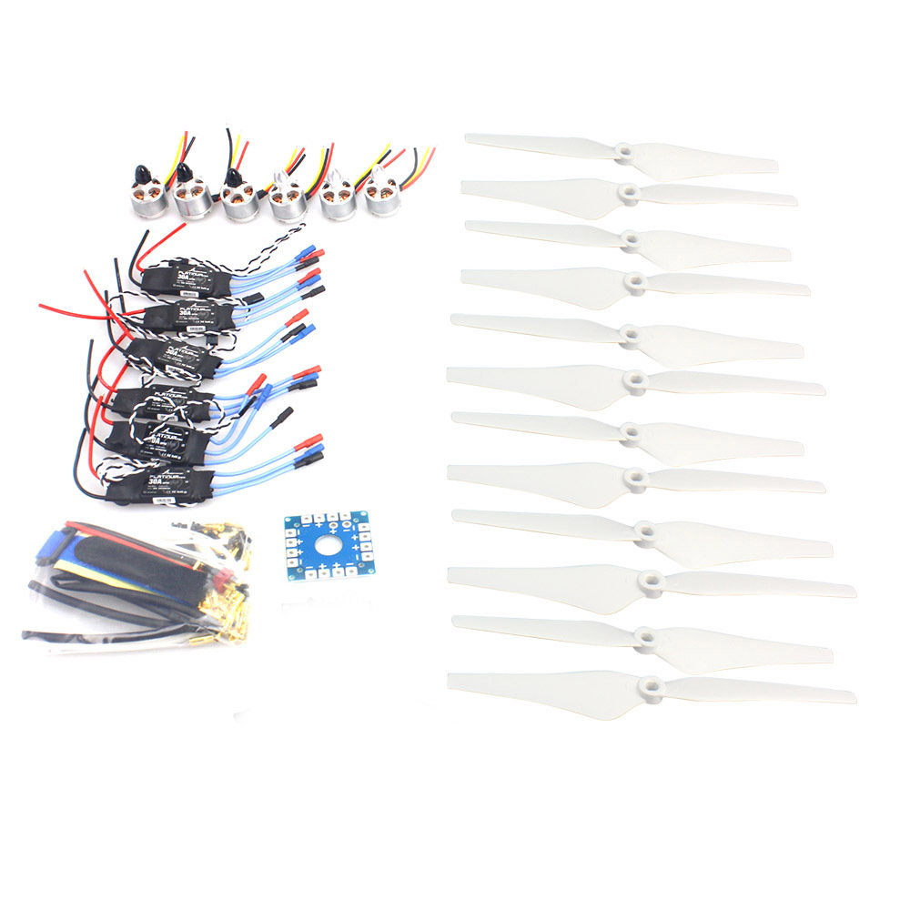 F14711-D D2212 920KV  CW CCW Brushless Motor 30A ESC Propeller Electronic Accessories Set for MultiCopter Hexacopter UFO Heli 2212 920kv brushless motor cw ccw 30a simonk brushless esc 1045 propeller for f450 f550 s550 f550 quadcopter frame