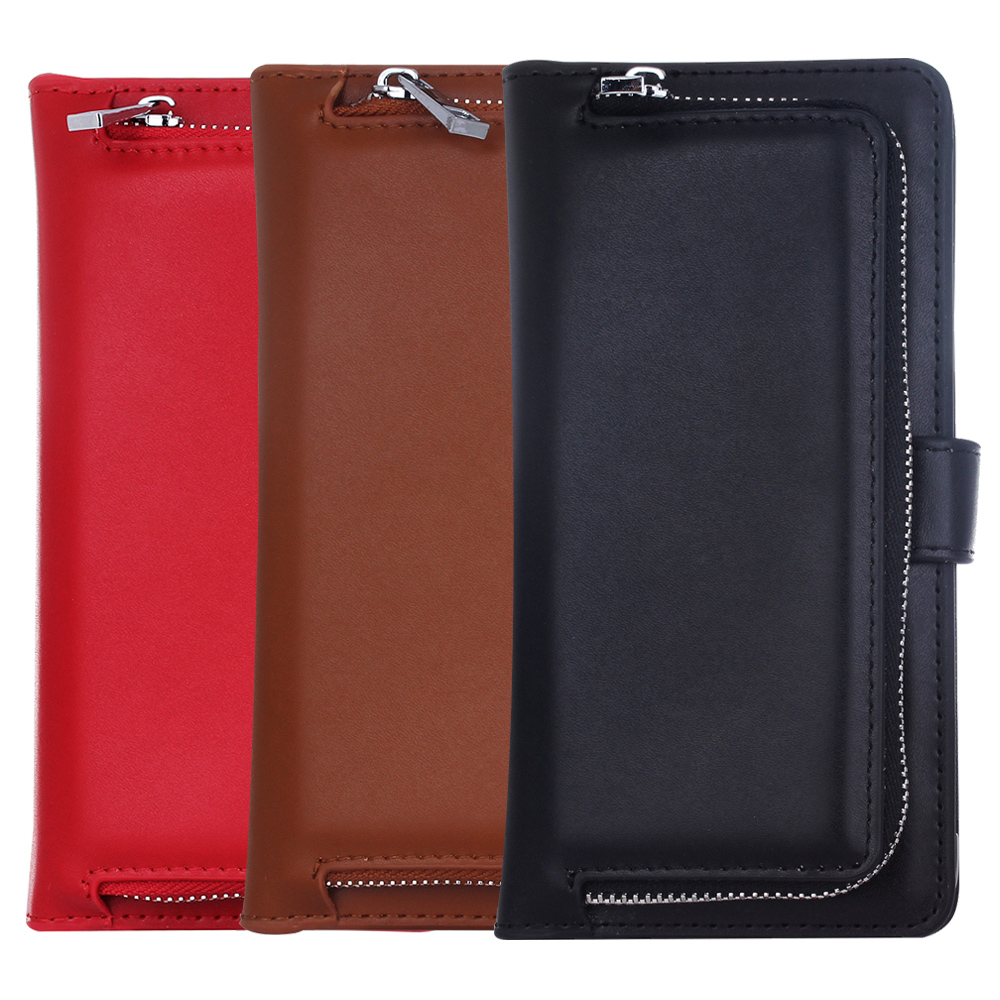 Luxury Leather Phone Case for SAMSUNG Galaxy S7 S7 Edge Detachable Back Cases Zipper Purse Wallet