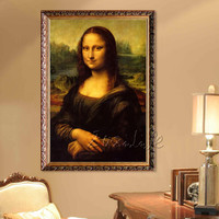 Canvas oil Painting caudros decoracion famous protrait Mona Lisa painting wall art wall pictures for living room home decor01