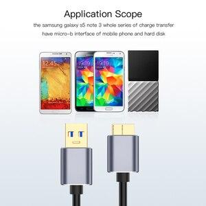 Image 5 - USB 3.0 kablosu USB uzatma Cabo USB 3.0 erkek mikro B erkek kablo hızlı şarj veri kablosu harici sabit samsung not 3 için S5