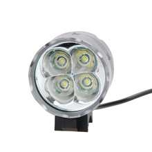 4 X 5200LM XML T6 Front Head LED Bicycle Flashlight Head Lamp Bike Light + Safety Rear Light Bicycle Lamp Bike Accessary