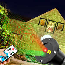 Moving Laser Projector Christmas Laser Projector Outdoor Garden Light Remote Control Decorative Lawn Xmas Laser Projector alien outdoor ip65 rg snowflake five pointed star laser light projector waterproof garden xmas tree christmas decorative lights