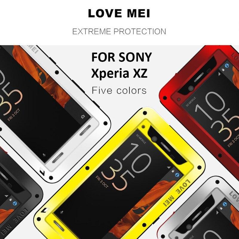 bilder für Wasserdicht für Sony Xperia XZ Fällen Gepanzerte Aluminium Abdeckung Fall für Sony Xperia XZ Ursprüngliche Luxus Marke Stoßfest Hartschalentasche
