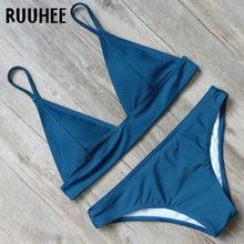 RUUHEE Sexy Bikini Swimwear Swimsuit Women Leopard Bikini Set 2019 Bathing Suit Push Up Women Summer Beach Wear Padded Biquini