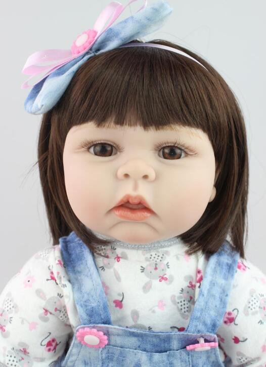 Foreign trade hot soft silicone doll baby toys