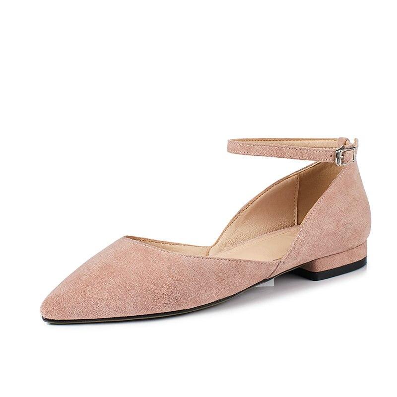 34 Chaussures gris Mode Bas Boucle Rose 2019 Plate Taille Bout jaune Femmes Pompes 43 Carré Talon Noir Troupeau forme Pointu De Nemaone rose RTSYqx