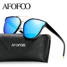 AFOFOO New Fashion Polarized Sunglasses Women Luxury Brand Designer Driving Mirror Sun glasses UV400 Shades Eyewear With Case