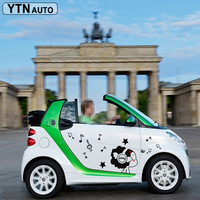 customize for smart mini 2 doors car accessories modified decals lovely girl music romantic graphic vinyls scratch car stickers