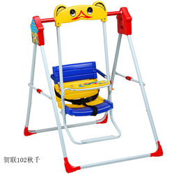 Metal Pipe Folding Baby Swing with Music Rocker Multi-functional Baby Swing Chair Indoor and Outdoor Swing for 0-36 Months Baby