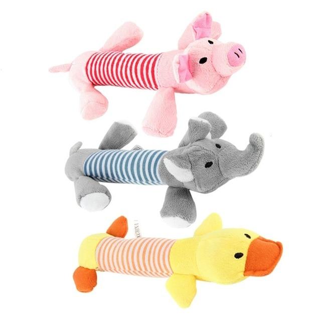 Dog Toys Suono Anatra Pig Elefante Rosa Grigio Articoli Per Cani Pet Chew Squeak