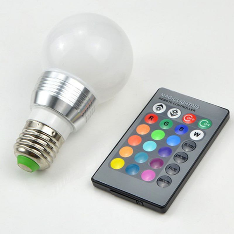 16 Colors Changing RGB LED Nigh light Holiday Decorative Atmosphere lamp E27 E14 B22 7W  ...