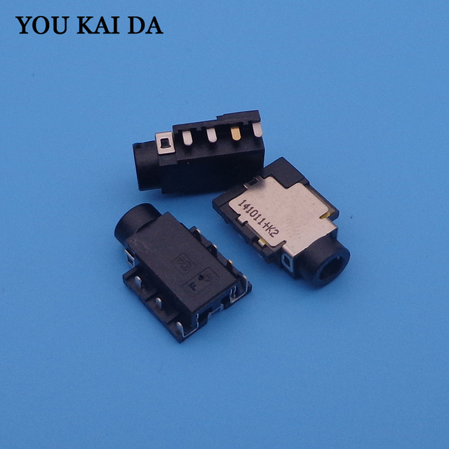 US $5 99 |Audio COMBO Jack Connector for Ausu Dell HP Lenovo Laptop etc  Headphone MIC Jack , PCB to Top H 1 8mm-in Computer Cables & Connectors  from
