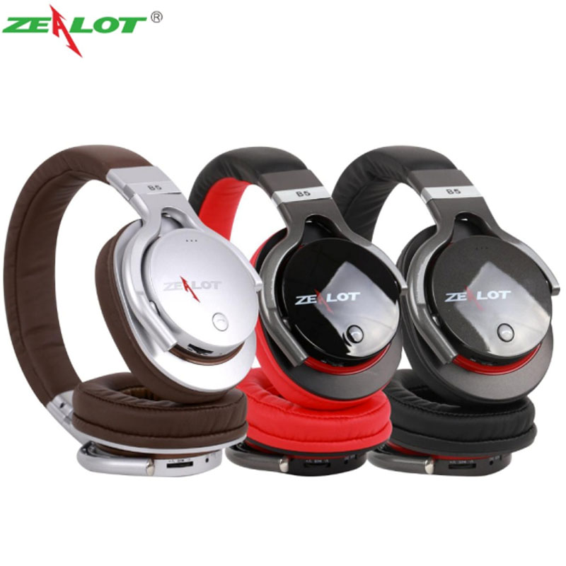 ФОТО Hot Zealot B5 Bluetooth Headphones Stereo Auriculares Wireless Headset Fone De Ouvido with Microphone TF Card Slot Audifonos