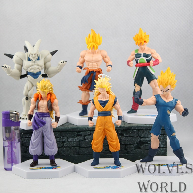 2014 new 16cm High quality 6pcs/1lot dragon ball z   action figures Wholesale stock. in Christmas gifts Boys Toys