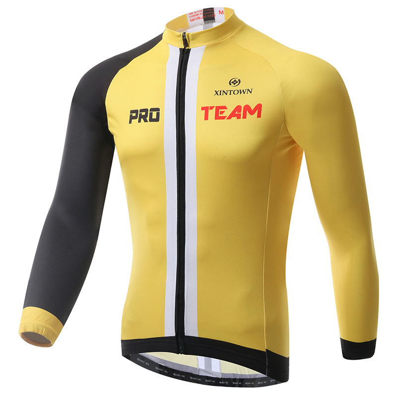 XINTOWN Fleece Thermal Winter Cycling Jacket Windproof Bike Bicycle Coat  Clothing Long Warm Jersey Waterproof Black Yellow Coats-in Cycling Jerseys  from ... 6657c6c1a