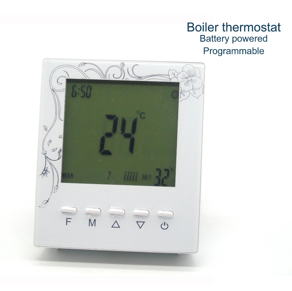 Programmable wall mounted gas boiler thermostat with Russian ...