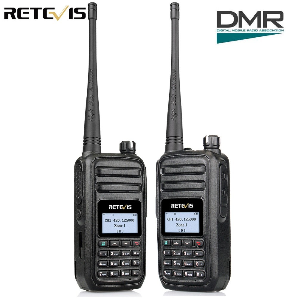 2 pcs Retevis RT80 DMR Radio Numérique Talkie Walkie UHF 400-480 MHz 5 W Numérique Mobile Radio VOX alarme Jambon Radio Hf Émetteur-Récepteur
