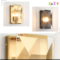 Işıklar ve Aydınlatma'ten LED İç Mekan Duvar Lambaları'de Sanatsal modern led duvar ışığı Kristal Duvar Ev Aydınlatma Duvar Aplikleri Duvar Lambası