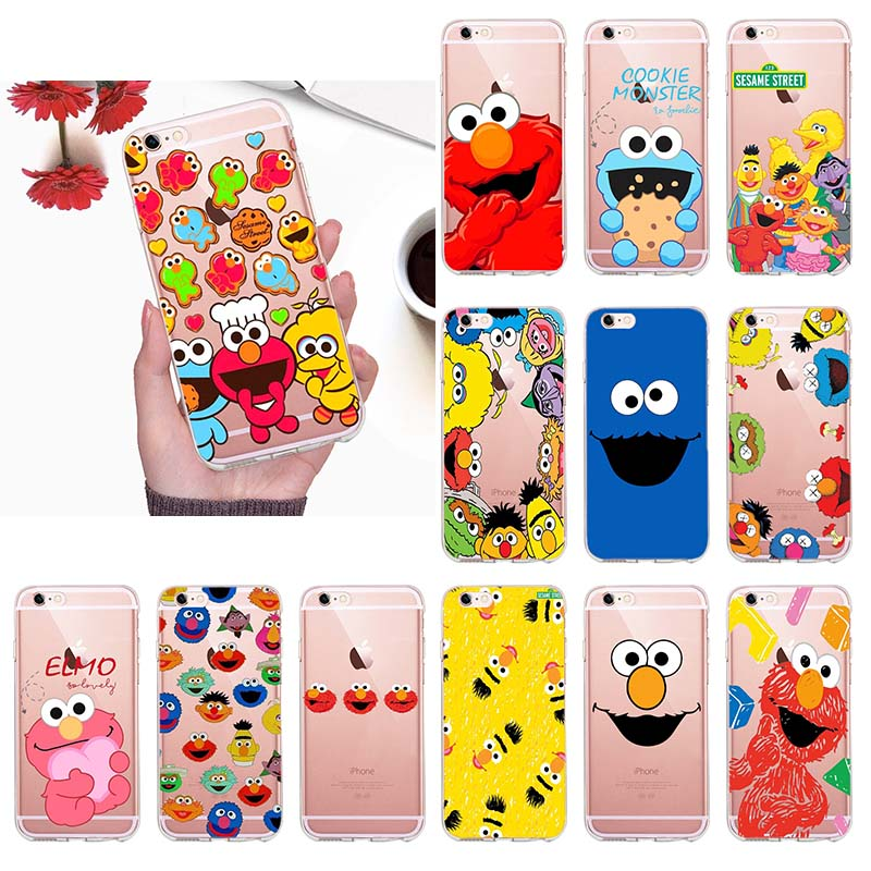 Half-wrapped Case Realistic Cute Cartoon Sesame Street Capa Coque Telefone Para For Funda Iphone 6 6s 7 8 Plus 5 5s Se X Xs Max Xr For Girls Case Cellphones & Telecommunications