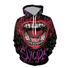 3D Print  Suicide Squad Harley Quinn Joker Sweatshirts Hoodie Movie Cosplay Costume Hoodie Coats Men Women New Top