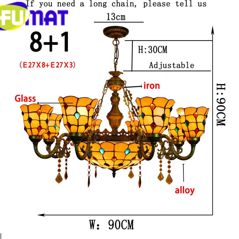 6 Phoenix Stained Glass pendant Ceiling Lamps