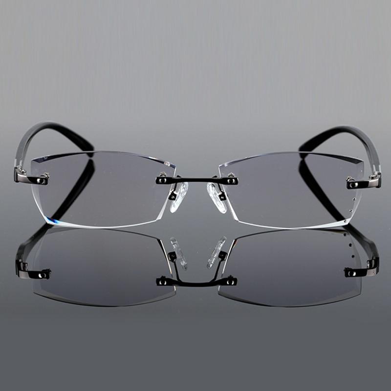 Reflektierende Brillen Männer 644 Rezept gold Optische Linsen Randlose Gray Berühmte Brille Für Designer silver Anti Klar Dioptrien Hohe gvpUHx