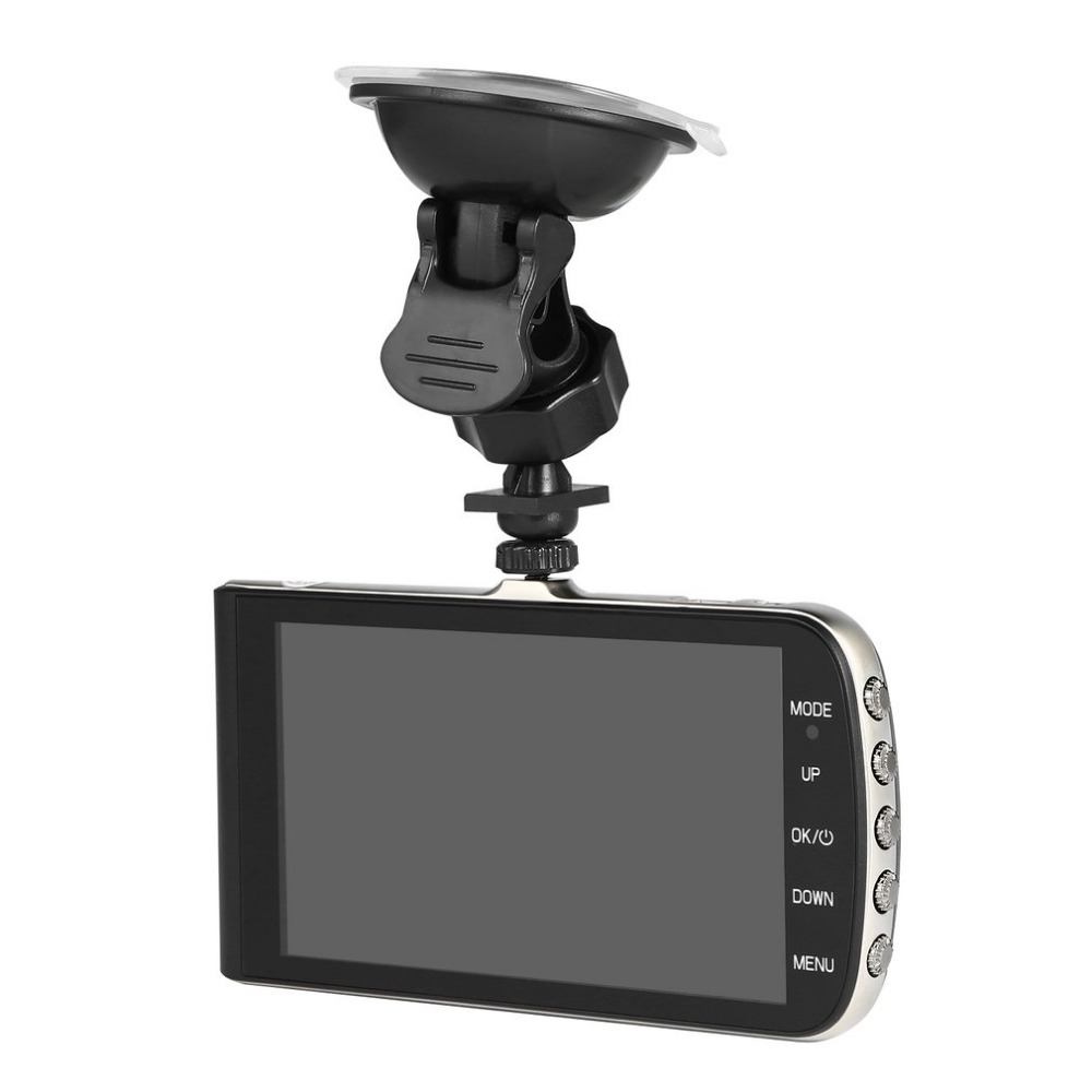Full HD 1280*720P 4 inch LCD Car DVR Camera Video Recorder Rear View Camera 140 Degree Wide-angle Cyclic Recording Night Vision hight quality gt850w shadow1 band car dvr camera 2 7 lcd 140 degrees wide angle full hd 1280x1080p gps logger opetional