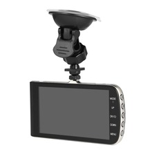 Full HD 1280*720P 4 inch LCD Car DVR Camera Video Recorder Rear View Camera 140 Degree Wide-angle Cyclic Recording Night Vision