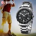 CURREN Relojes Hombres de Acero Completo Reloj Deportivo de marca de calidad Hombres Militares Relojes de Pulsera A Prueba de agua Relogio masculino xfcsn