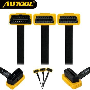 AUTOOL Car OBD2 Cable dividido Auto OBD 2 conector divisor OBDII extensión macho a hembra Cables adaptadores 1 a 2 división de 16pin